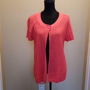 Coral short sleeve sweater